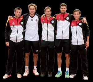 Die deutsche Nationalmannschaft beim Davis Cup