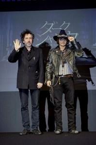 ジョニー・デップとティム・バートン監督の画像
