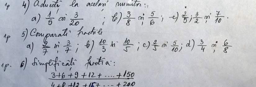 subiecte test matematica