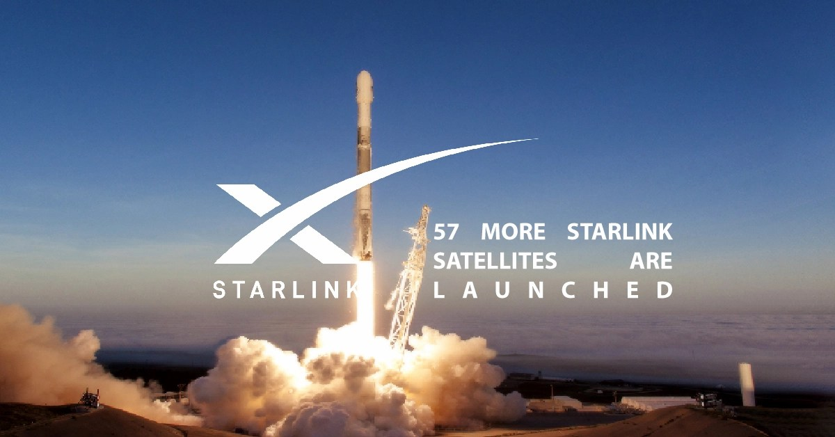 57 More Starlink Satellites Are Launched by SpaceX
