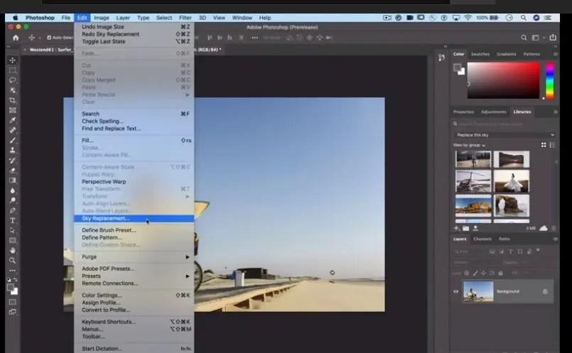 AI Sky Replacement nin Photoshop