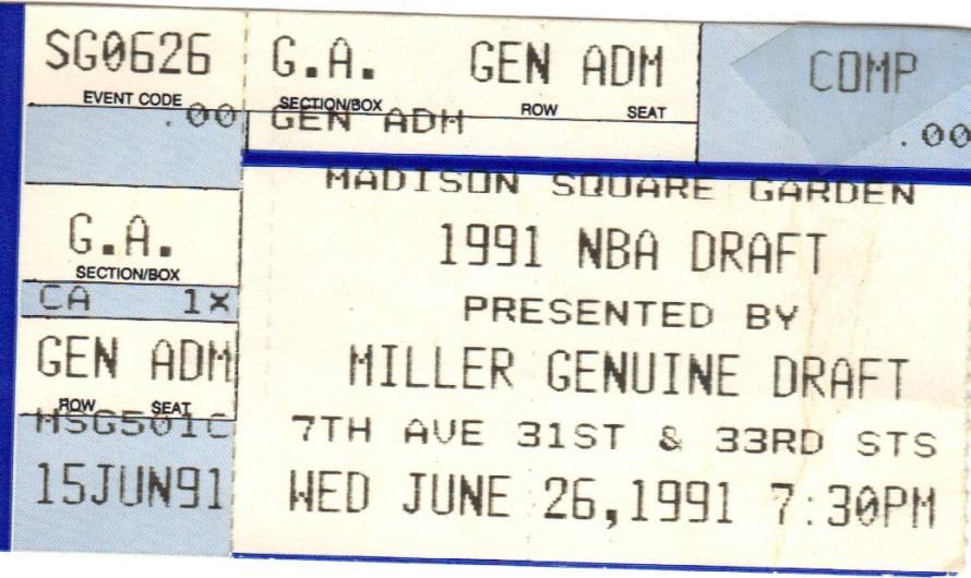 1991 NBA Draft Night