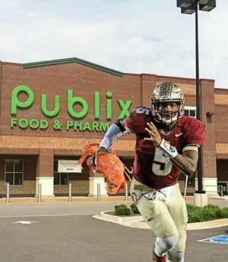 Jameis Winston showing his scrambling skills.