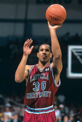 Bo KIMBLE left-handed free throw at LMU