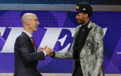 brandon ingram with adam silver