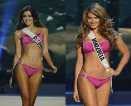 2016 NFL Draft - Miss Colombia and Venezuela