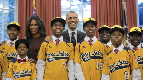 Jackie Robinson West Photo Op with Obama