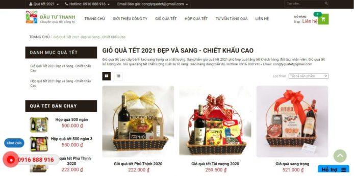 Công ty cung cấp giỏ quà tết cho doanh nghiệp congtyquatet