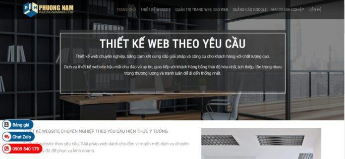 Công ty thiết kế website Phương Nam