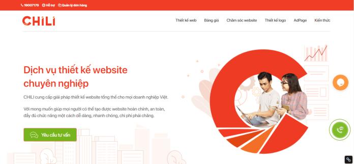 Công ty thiết kế website chuyên nghiệp Chili