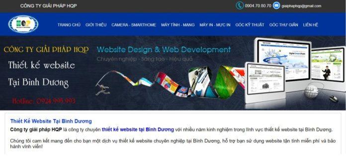 Công ty thiết kế website, cung cấp giải pháp HQP