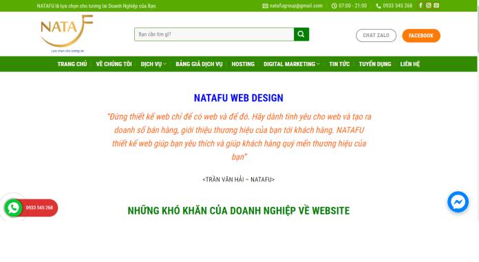 Công ty thiết kế website TNHH NATAFU