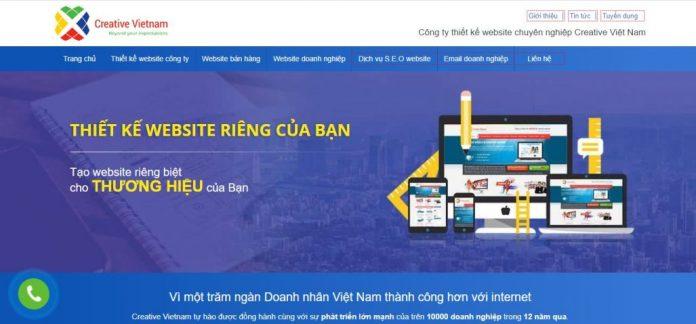 Công ty thiết kế website Creative VietNam