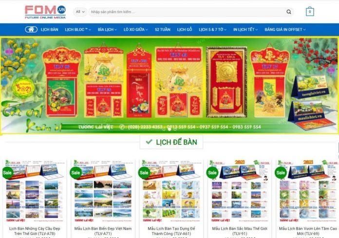 Công ty in lịch tết Tương Lai Việt