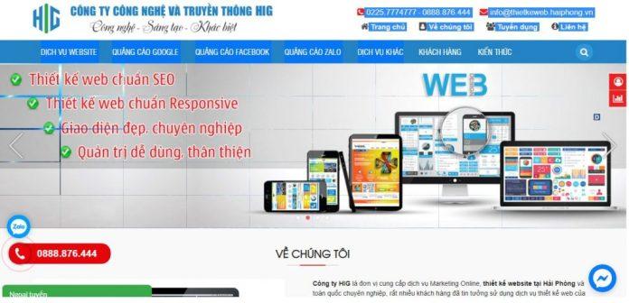 Công ty thiết kế website Hig