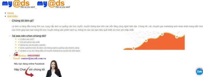 Công ty chạy quảng cáo Facebook MyAds