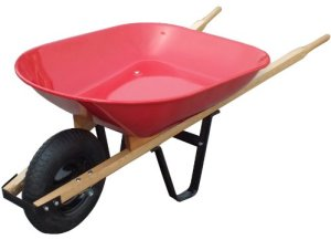 United General WH89685 Steel Tray Wheelbarrow - 4 Cubic-Feet 20 Gallon