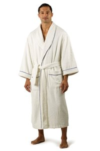 Texere Men Terry Cloth Long Bathrobe