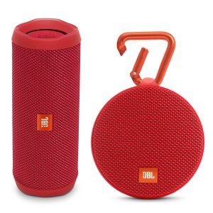 JBL Flip 4 Portable Waterproof Bluetooth Speaker and clip 2 Waterproof Bluetooth Speaker