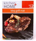 Kitchen + Home 15.75x13-Inch Non-stick, Extra Thick, Reusable BBQ Grill Mats (Set of 2)