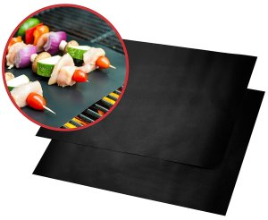 Quiseen BBQ Grill Mat, Thick, Durable, Non-Stick, Set of 2 Mats