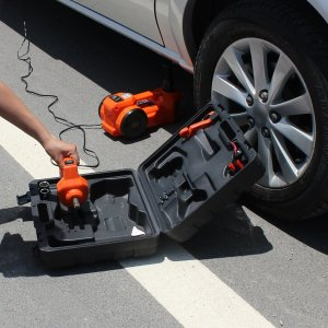 EAMBRITE 12V DC Electric Hydraulic Floor Jack Set For Car Use