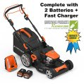 YardForce Lithium-Ion 22-inch Self-Propelled 3-in-1 Mower
