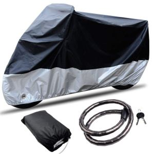 CARSUN All Season Two-colour Design Outdoor and Indoor Waterproof Motorcycle and Bike Cover