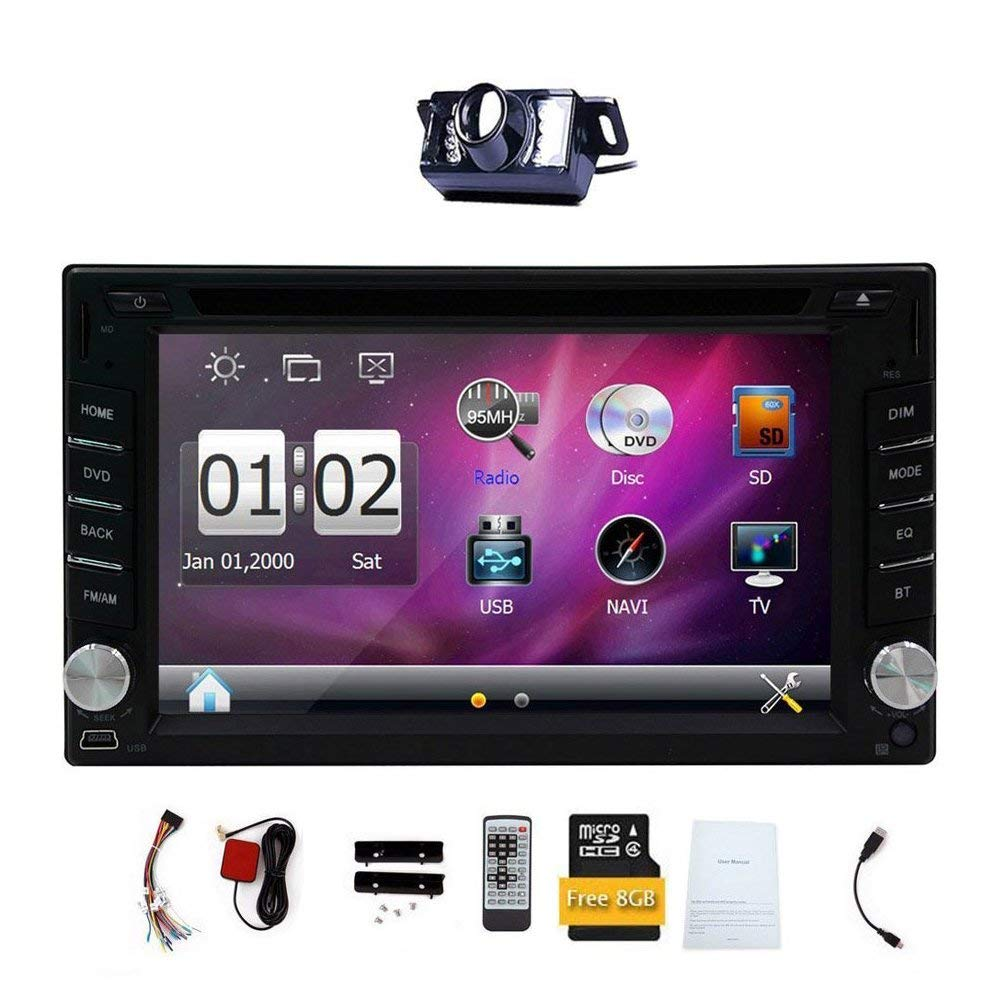 10 best touch screen car stereos in 20196 2\u2033 double 2 din car dvd cd video player eincar double din touch screen