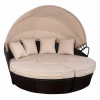 TANGKULA Patio Furniture Outdoor Lawn Backyard Poolside Garden Round