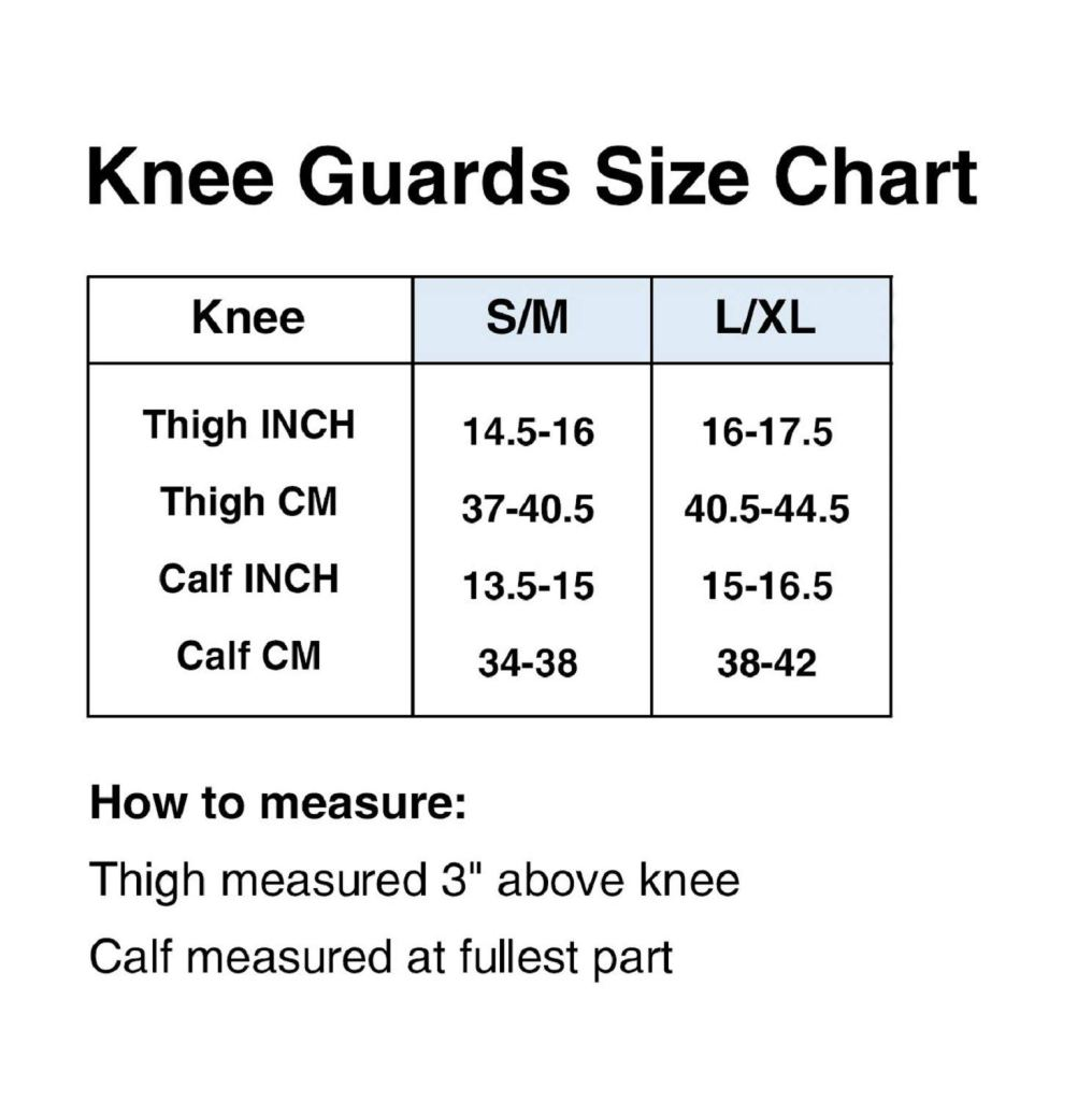 Knee Guards Size Chart