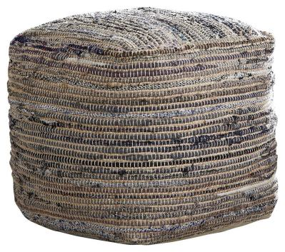 Ashley Furniture Signature Design - Absalom Pouf - Comfortable Ottoman & Footrest - Natural