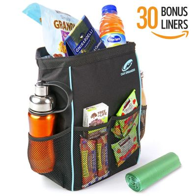 Best Car Trash Can for Litter with 30 Free Liners
