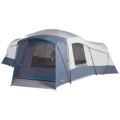 Spacious Family Sized 16-Person Weather Resistant Ozark Trail 23.5 x 18.5 Cabin Camping Tent