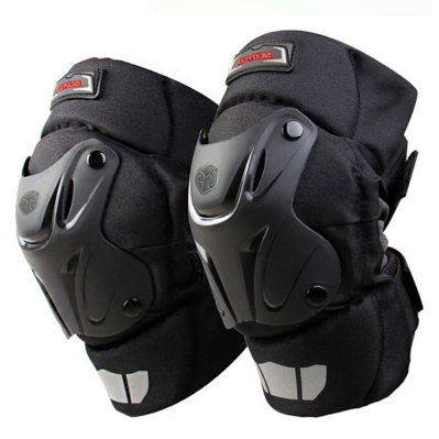 CRAZY ALS CAK Motorcycle Motocross Racing Knee Guards Pads Braces Protective Gear Black