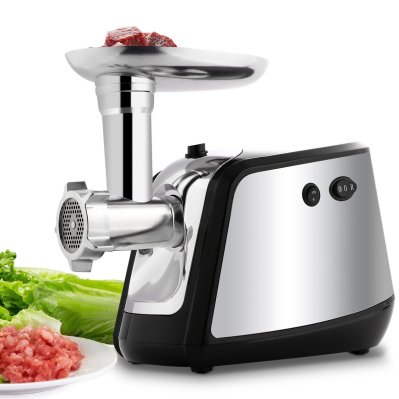 Electric Meat Grinder, Meat Mincer with 3 Grinding Plates and Sausage Stuffing Tubes