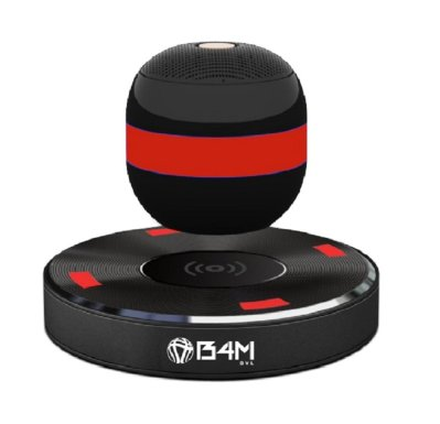 B4M OVL-Dark Black Levitating Bluetooth Speaker