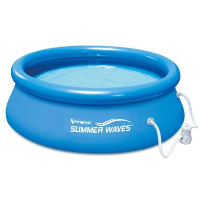 Summer Waves 8 Ft Quick Set Inflatable Above Ground Pool