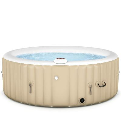 Goplus 4-6 Person Outdoor Spa Inflatable Hot Tub