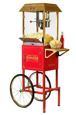 Nostalgia CCP1000RED Vintage 10-Ounce Commercial Popcorn Cart