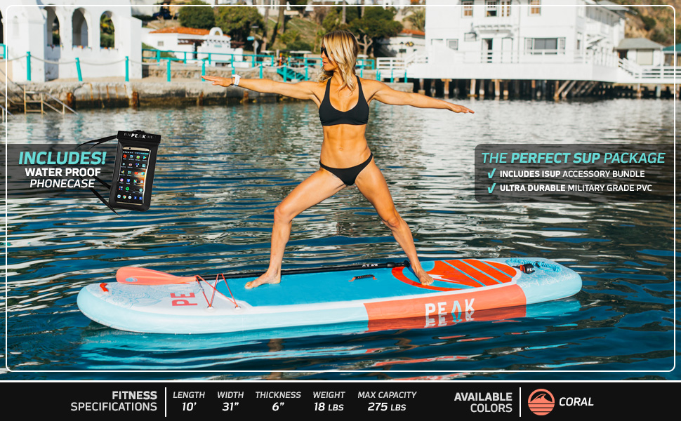 Peak Yoga Fitness Inflatable Paddle Board Review