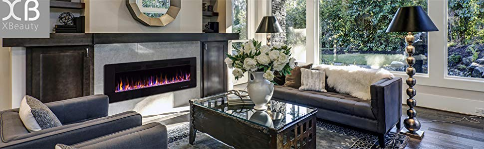 Xbeauty Wall Mount Electric Fireplaces