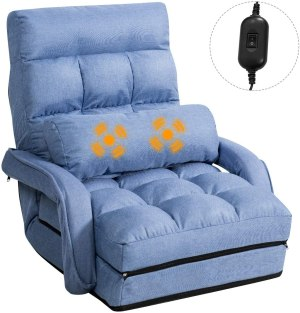 Giantex Updated Folding Massage Lazy Sofa Floor Chair Sofa Lounger Bed
