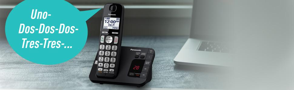 Panasonic DECT 6.0 Expandable Cordless Phone System with Answering Machine