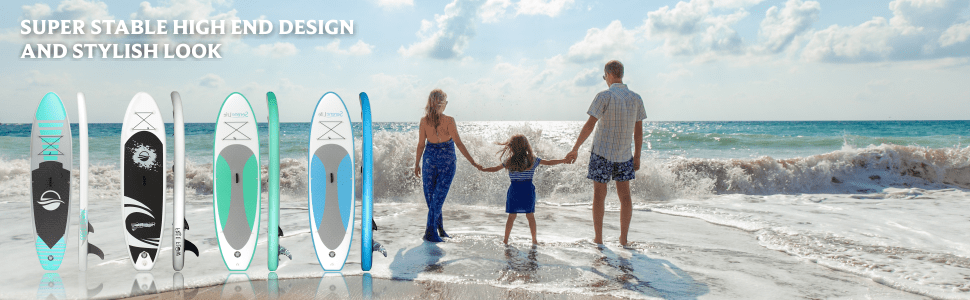 SereneLife Inflatable Stand Up Paddle Boards