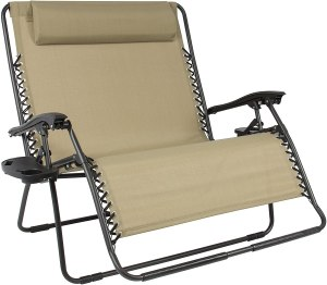 Best Choice Products Double Wide Folding Mesh Zero Gravity Chair
