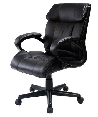 10. Giantex Pu Leather Ergonomic High Back Executive Office Chair