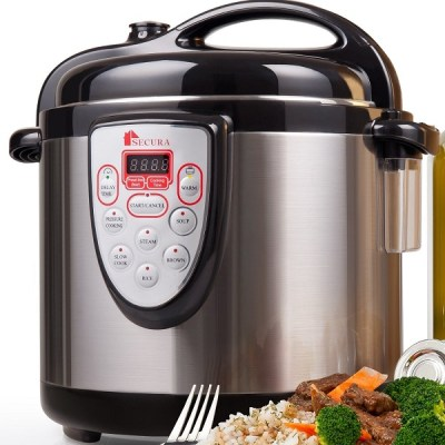 6. Secura 6-in-1 Programmable Electric Pressure Cooker