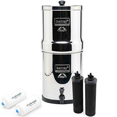 4. Berkey Big BK4X2 Countertop Water Filter System with 2 Black Berkey Elements and 2 Fluoride Filters