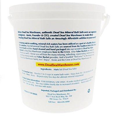 6. Dead Sea Warehouse Dead Sea Amazing Minerals Bath Salts Bucket, 5 lb